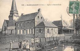 76-AMBRUMESNIL- EGLISE ET MAIRIE-ECOLE - Altri Comuni