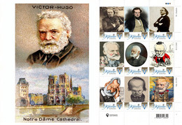 Ukraine 2021, World Literature, Writer Victor Hugo, Sheetlet Of 9v - Ucraina