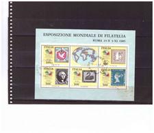 E75  -    BLOCCO FOGLIETTO USATO  SASSONE Nr. 3 - Blocchi & Foglietti