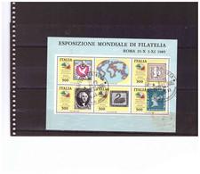 E80  -    BLOCCO FOGLIETTO USATO  SASSONE Nr. 3 CON ANNULLO 1° GIORNO - Blocchi & Foglietti