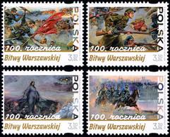 Poland 2020 Fi 5070-73 Mi 5220-23 100th Anniversary Of The Battle Of Warsaw - Ongebruikt
