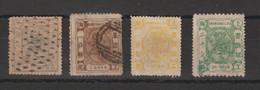 Chine Shanghai 1866-1884 Lot De 4 Timbres Oblit Used état Voir Scans - Gebruikt