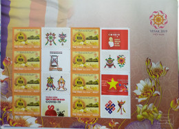 Vietnam Viet Nam MNH Perf Sheetlet 2021 : Vesak United Nations / Bouddha's Birthday With ANTI COVID VIGNETTE - Vietnam