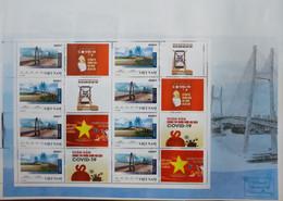 Vietnam Viet Nam MNH Perf Sheetlet 2021 : Bridge With ANTI COVID VIGNETTE - Vietnam