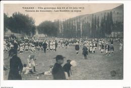 Carte De TARARE Fête Gymnastique Juin 1912 Terrain Du Concours Les Sociétés En Repos  ( Recto Verso ) - Tarare