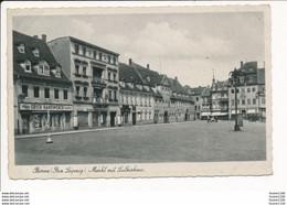 Borna Markt Mit Lutherhaus Erich Handwerck ( Format C.P.A ) - Borna