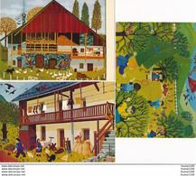 """LOT De 8 Cartes D' Artiste Peintre Peinture AGNES LAINE """" TOUN """"  LA MOTTE SERVOLEX - La Motte Servolex"""
