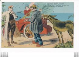 Carte Humoristique Propos Morvandiaux Dépannage Automobile âne Mulet  ( Morvan ) Illustrateur A.p. Jarry ( Recto Verso ) - Unclassified