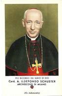 Santino/reliquia/holycard/relic: S.d.D. Card. A. ILDEFONSO SCHUSTER - Milano. - Mm. 70 X 110 - Religión & Esoterismo