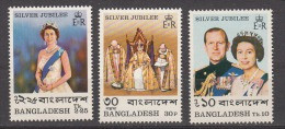 BANGLADESH, 1977, Silver Jubilee Of Coronation Of Queen Elizabeth, Set 3 V, MNH, (**) - Bangladesh