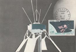 CARTE MAXIMUM 1966 SATELLITE D1 - 1960-69