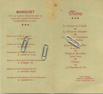 MENU : Société Royale D'Horticulture De Bruxelles : Banquet Annuel 1931   ( See Scans For Detail ) 15  X 8.5  Cm - Menus