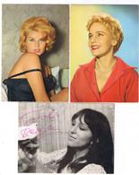 LOT 7 CARTES POSTALE ACTRICES TOUTES SCANNEES - 5 - 99 Postcards