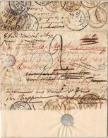 LETTRE AVEC MULTIPLES REEXPEDITION CHEVREUSE ECOUYS MONFORT L'AMAURY + REBUT PARIS COVER FRANCE SEINE ET OISE YVELI NES - 1801-1848: Precursors XIX