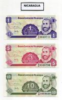 Lotto 3 Banconote Nicaragua - Nuove - Vedi Foto - (FDC29772) - Nicaragua