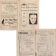 NAMUR  Programme Ciné-théâtre La Renaissance   1930 - Programs
