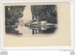 Carte De Poissy Le Pont Vu Du Restaurant De L' Esturgeon - Poissy