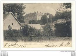 Carte De Châteauneuf Sur Cher Le Château Vue Prise De L' île - Chateauneuf Sur Cher