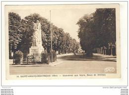 Carte De St Saint Amand Montrond Monument Aux Morts Route De Meillant ( Peu Courante ) - Saint-Amand-Montrond