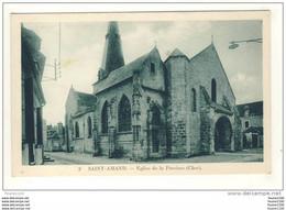 Carte De St Saint Amand Montrond église De La Paroisse ( Peu Courante ) - Saint-Amand-Montrond