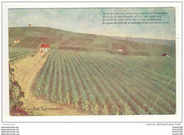 Carte Pulicitaire ( Vertus ) Vignoble Larmandier ( Illustrateur ( Litho )( Dessin ) R. Minguet Peut être )  ( RARE ) - Vertus