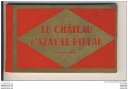 Carnet De 20 Cartes Château D' Azay Le Rideau  ( Complet ) - Azay-le-Rideau
