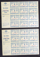 Lotto 2 Carte Carburante Settembre Ottobre 1949 - Motociclo - Buoni Benzina RARO - Non Classificati