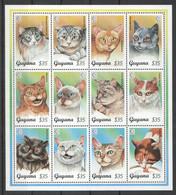 XX578 GUYANA FAUNA PETS CATS 1SH MNH - Domestic Cats