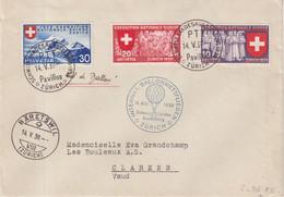 """SUISSE : OBL . """" INTERNAT . BALLONWETTFLIEGEN ; ZURICH """" . 1939 . - Briefe U. Dokumente"""