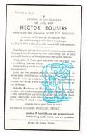 DP Hector Rousere ° Watou 1901 † Poperinge 1966 X Godelieve Werquin // Deprez - Imágenes Religiosas