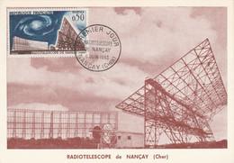 CARTE MAXIMUM 1963 RADIOTELESCOPE DE NANCAY - 1960-69