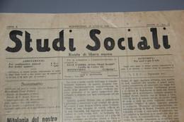 JOURNAL GIORNALE STUDI SOCIALI MONTEVIDEO URUGUAY 29 JUILLET ( LUGLIO ) 1939 WW2 - Altri