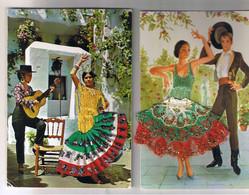 LOT DE 10 CARTES BRODEES TOUTES SCANNEES - 5 - 99 Postcards