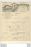 Facture Illustrée Quincaillerie Métaux ( Anc. Bonnet ) BOUGARD à  NONANCOURT ( 27 Eure )( Recto Verso ) - 1900 – 1949