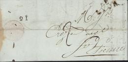 Bremond Et Cie Entrepreneur De Messagerie Pr Paris Pour Bousquet Bordeaux Marque Postale 68 Lyon + 21 Au Dos - 1801-1848: Precursori XIX