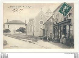 Carte De SAINTS  ( Café Restaurant ) ( Recto Verso ) - Autres Communes