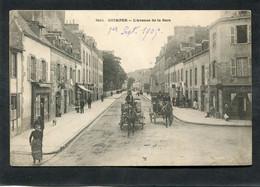 CPA - QUIMPER - L'Avenue De La Gare, Animé - Attelages - Quimper