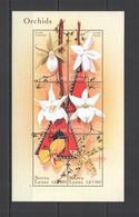 VV953 SIERRA LEONE FLOWERS ORCHIDS FLORA 1KB MNH - Orchids