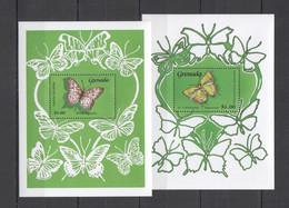 WW230 GRENADA FLORA & FAUNA BUTTERFLIES 2BL MNH - Butterflies