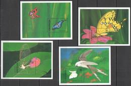 WW232 GRENADA FLORA & FAUNA INSECTS & BUTTERFLIES BIRDS !!! 4BL MNH - Butterflies