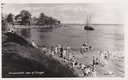 4844401Sliedrecht, Rivierzicht Van Af Singel. (FOTOKAART 1947)(vouw Zie Achterkant) - Sliedrecht