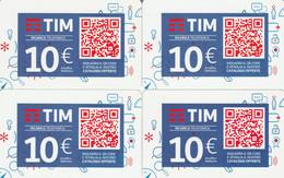 4 RICARICHE TIM ULTIME EMISSIONI (CK717 - [2] Sim Cards, Prepaid & Refills