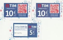 3 RICARICHE TIM ULTIME EMISSIONI (CK718 - [2] Sim Cards, Prepaid & Refills