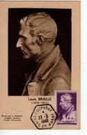 Carte Maximum Avec N°793 Louis Braille Oblitérée Coupvray 27/3/48  Cote Yvert  A1  30E - 1940-49
