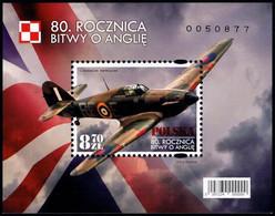 Poland 2020 Fi BLOK 350 Mi BLOCK 301 80th Anniversary Of The Battle Of England - Unused Stamps