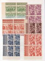 Indochine. , Y & T N°PA 40/45 Neufs Sans Charnière, NSC,**, MNH, Avec Bords De Feuille En Bloc De Quatre - Unused Stamps