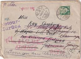 SUISSE 1938 LETTRE DE BERN AVEC RETOUR A L'ENVOYEUR - Covers & Documents