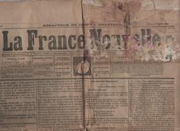 LA FRANCE NOUVELLE 31 08 1876 - VICTOR HUGO SERBIE - MOURMELON MANOEUVRES - BELGRADE - LONGPONT - JOURNAL DES CONCIERGES - 1850 - 1899
