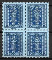 Autriche YT N° 322 En Bloc De Quatre Neufs ** MNH. TB. A Saisir! - Unused Stamps