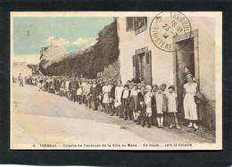 CPA - TREBOUL - Colonie De Vacances De La Ville Du Mans - En Route Vers La Colonie, Très Animé - Tréboul